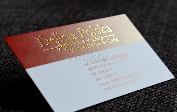 Złote wizytówki dla branży restauratorskiej